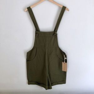 Knot Sisters olive tie knot romper